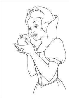 Snow White Apple Coloring Page Ae Snow White Coloring Pages