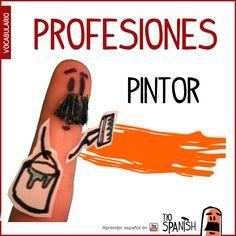 El pintor / La pintora --- Profesiones en español, vocabulario español incial- intermedio