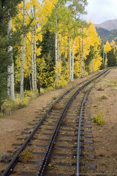 Pikes Peak Cog Railway near Manitou Springs, Colorado Springs, Colorado