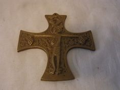 Vintage German E. Weinert Cross   Through Jesus  blood we are redeemed   #F