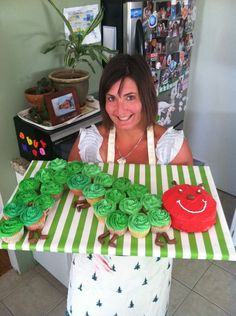 My beautiful friend Carrie and her fabulous cake for her baby boy's first birthday