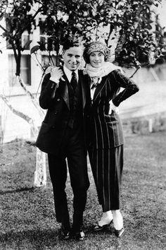 Charlie Chaplin and ballerina Anna Pavlova
