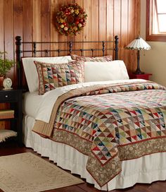 I'd like to make a quilt like this... maybe someday. Cider House Quilt: Quilts | Free Shipping at L.L.Bean