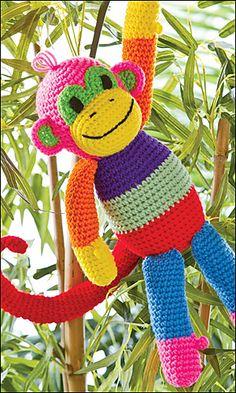 Ravelry: Patchwork Monkey pattern by Sheila Leslie