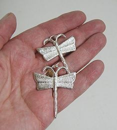 Tufa Cast Dragonfly Earrings by Navajo artist Monty Claw