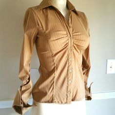 Charlotte Russe Long Sleeve Shirt Stretch and fitted long sleeve shirt from Charlotte Russe, never used.  Medium size, run small. Charlotte Russe Tops