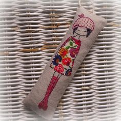 Luv the color! hand embroidered lavender girl by LiliPopo on Etsy, £15.00