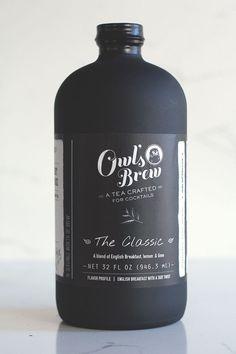Tea beverage #label for cocktails - sounds tasty!| Owl's Brew
