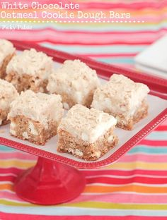 Oatmeal White Chocolate Cookie Dough Bars by @Jenny Flake, Picky Palate