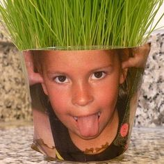 Photo Grass Heads! @Talitha Scott These are cute, next play date project??