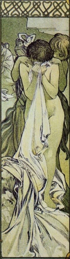 Mucha & Ilsee (detail) by Alphonse Mucha   Golden Age