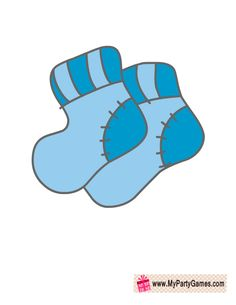 Cute Blue Baby Boy Socks, Baby Shower Photo Booth Prop