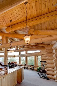 Log Home Decorating Creative resource 4935219393 - Into Superb strategies to design a really warm decor. House Design Photos, Home Design, Design Ideas, Log Home Living, Living Room, Log Cabin Homes, Log Cabins, Log Home Interiors, Log Home Decorating
