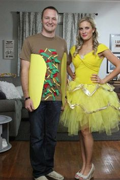 Food and Disney, what more can we ask for in aHalloween costume? Get the tutorial at Katie in Kansas. What you'll need:Belle ballgown (starting at $20; amazon.com); Brown t-shirt (starting at $3, amazon.com)