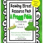This is a large file containing many common core aligned resources to supplement the Reading Street 2nd Grade, Unit 4, Week 1, A Froggy Fable lesso...