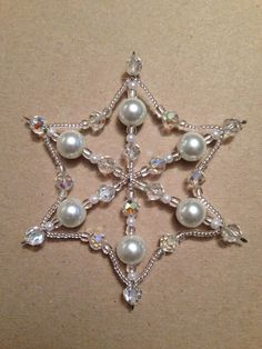 Bead snowflake ornament