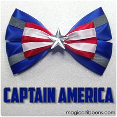 Captain America Bow (New) - Magical Ribbons Shop