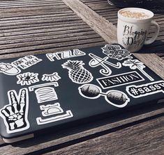 laptop covers macbook stickers, l Mac Stickers, Tumblr Stickers, Phone Stickers, Cute Stickers, Macbook Keyboard Stickers, Macbook Case, Laptop Decal, Computer Laptop, Macbook Pro
