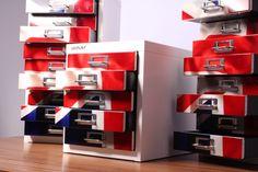 Schubladenschränke im UK-Look  --> 5- und 10-Schübe-Schränke