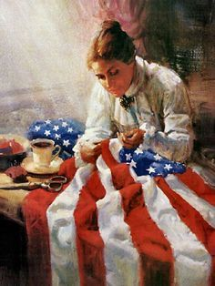 Our beautiful Red, White, amd Blue..First Flag...