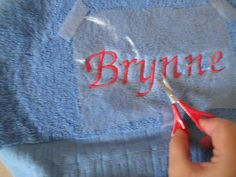 A Girl In Paradise: Machine Embroidery - Towels 3 steps 3 stablizers Brother Embroidery Machine, Machine Embroidery Projects, Machine Embroidery Applique, Embroidery Machines, Embroidery Monogram, Embroidery Fonts, Embroidery Ideas, Embroidery Alphabet, Applique Ideas