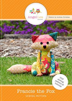Patchwork Fox Softie PDF Sewing Pattern. ~ Introducing Francie Fox... my latest…