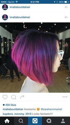Purple/ Pink Bob