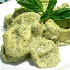Basil Cream Sauce - But I bet I can make this vegan with a little tweaking.