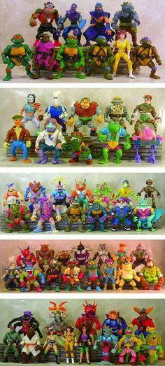 Because if the TMNT franchise is good at anything, it's selling toys Ninja Turtle Toys, Ninja Turtles Action Figures, Teenage Mutant Ninja Turtles, Teenage Turtles, Tmnt Turtles, Retro Toys, Vintage Toys, Old School Toys, Childhood Toys