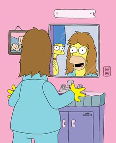 Throwback Thursday to when Homer used a miracle formula to grow a head full of hair!