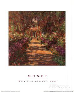 Garden Path at Giverny Póster por Claude Monet en AllPosters.es