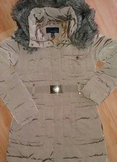 Kup mój przedmiot na #vintedpl http://www.vinted.pl/damska-odziez/kurtki/15485171-kurtka-plaszcz-mango-pikowana-puchowa-xss-kaptur-futerko-zimowa