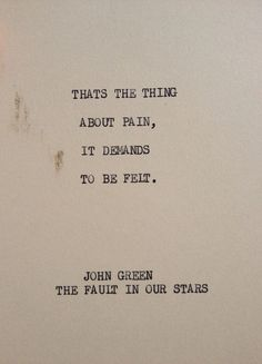 THE Fault In Our Stars: Typewriter quote on 5x7 cardstock