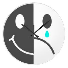Happy Face Sad Face Wall Clock