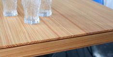 Detail shot Larch table from alvari