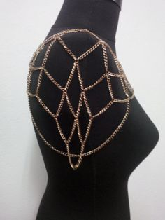 shoulder chaincopper shoulder chainnecklace by MukoShop on Etsy