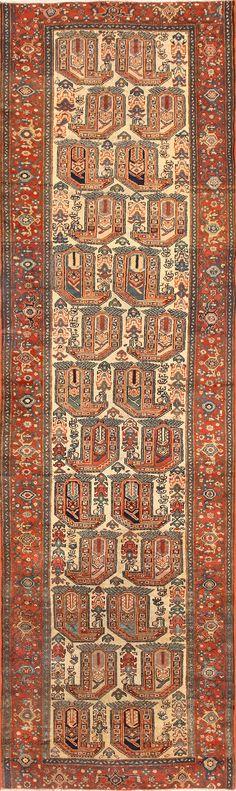 Antique Persian Malayer Runner Rug 50499