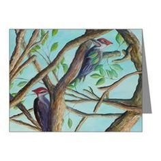 PILEATED WOODPECKERS Note Cards