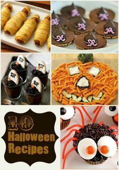 FUN Halloween Recipes - snacks and treats for Halloween parties! { lilluna.com }