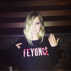 feyoncé. Best engagement sweatshirt ever.