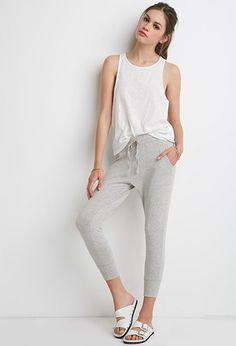 Heathered Drawstring Sweatpants | Forever 21 - 2052288334