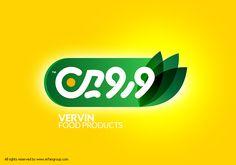 طراحی نشان تصویری صنایع غذایی وروین Vervin Food Products