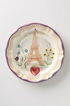 Anthropologie Francophile Dinner Plate, Eiffel Tower // I'm not big on Eiffel Tower items but this is pretty endearing.