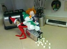 It's a good thing my kids are too old for this game because this is the kinda stuff my elf would do