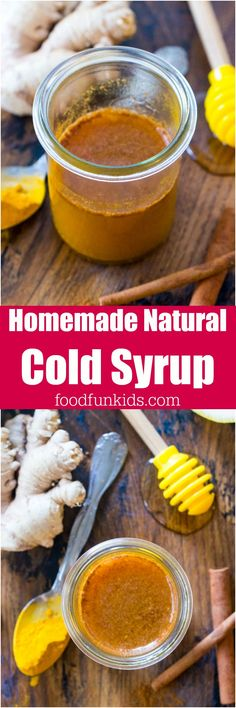 Homemade Natural Cold Syrup is great to keep on hand during the cold season. It will give your immune system a boost, using all natural ingredients. #cold #natural #syrup