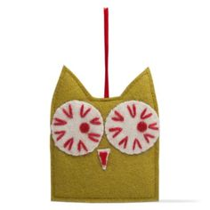christmas owl felt ornament
