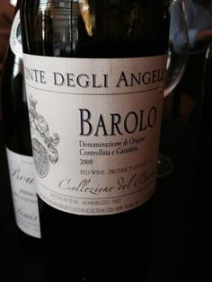 Monte Degli Angeli Barolo 2009 *3 years in barrels *Cherries and herbs on nose *Tannic *Herbaceous on finish *$22-28