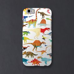 Dinosaurs Phone Case iPhone 6 and 6S by ChaComLetras on Etsy