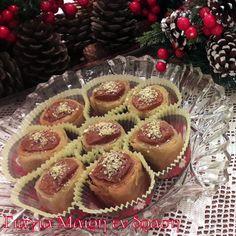 Τυροπιτάκια φούρνου θεϊκά - Γιαγιά Μαίρη Εν Δράσει Cookbook Recipes, Cooking Recipes, Greek Cookies, Greek Sweets, Christmas Cooking, Greek Recipes, Sweet Desserts, Cheesecake, Deserts