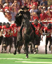 Texas Tech's Masked Rider - The Masked Rider is the oldest and most popular mascot of Texas Tech University that still exists today. Originally the Masked Rider started as a dare in 1936 and was then called the ghost rider, because no one knew the rider's identity. These ghost riders circled the field at home football games and then disappeared.